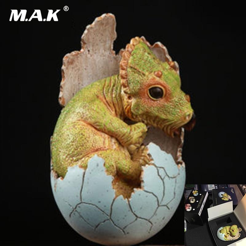 Kid Toys 8cm EDAGE Dinosaur Eggs Series Baby Green Jurassic Triceratops Dinosaur Resin Model Tpys for Collection Gift green eggs
