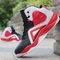 Tênis de basquete para homem amortecimento tênis de basquete de alta qualidade ao ar livre esportes tênis respirável sapatos esportivos|Tênis de Basquete| |  -