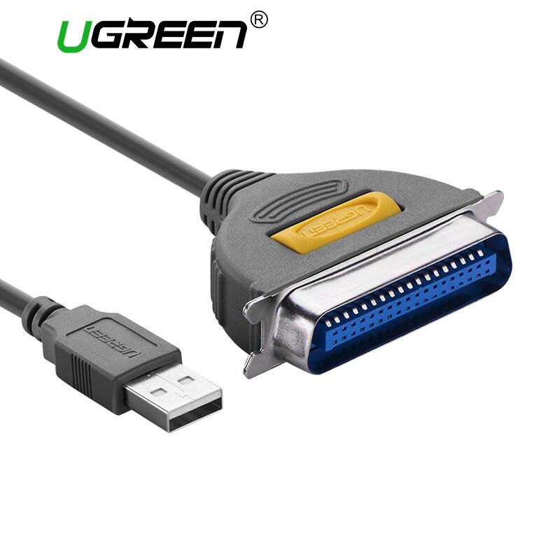 Ugreen USB zu DB36 Druckerkabel LPT Buchse Parallel IEEE 1284 CN36 36Pin Print Adapter Konverter Druckerkabel USB zu VERSCHIFFEN-DB36
