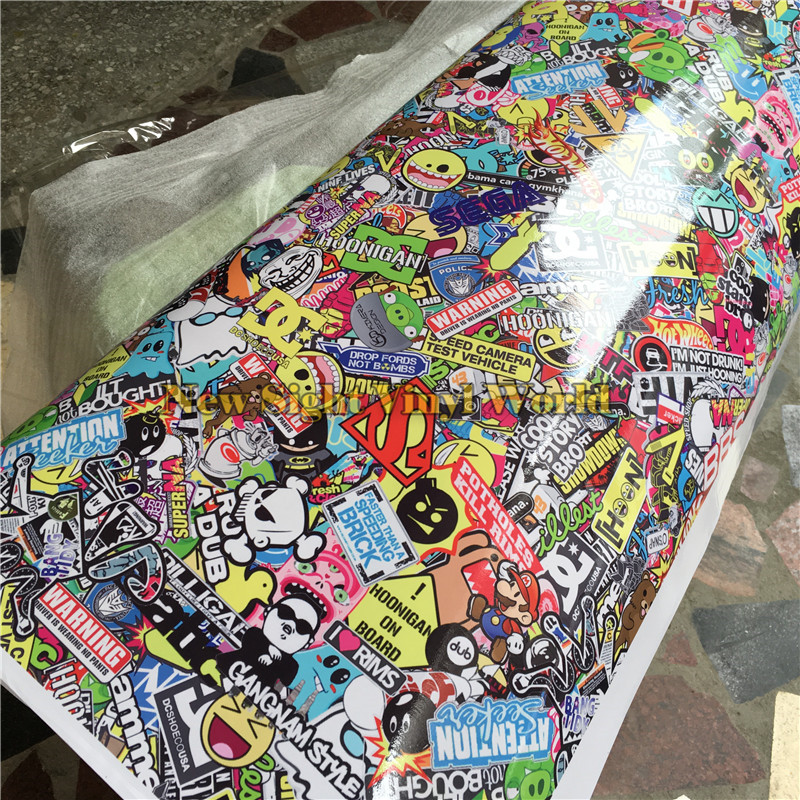 Sticker Bomb Wrap Car Sticker Bombing Car Vinyl Roll Film