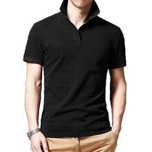 Men Brand Polo Shirt Tee Top 2019 Summer Mens Solid Short Sleeve Polos Male Business man jerseys advert shirt