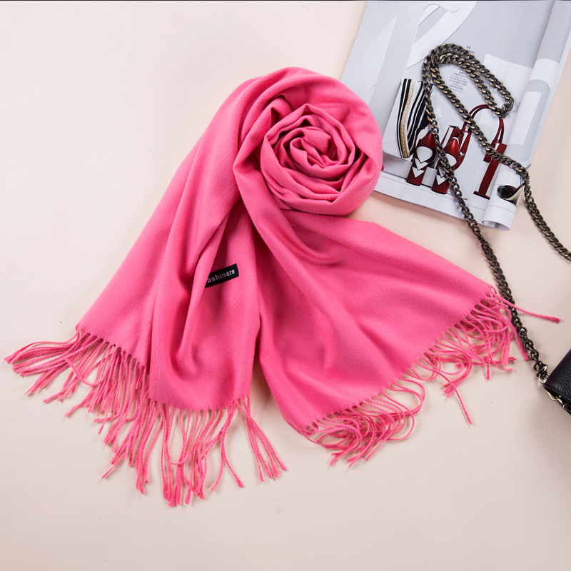2017 Shawls and Scarves Cashmere Cape Plain Winter Warm Scarf Luxury - Apparel Accessories - Photo 3