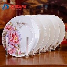 Comedor de Estilo chino De Cerámica Vajilla de Porcelana de Jingdezhen de Porcelana Vajilla 8 * pulgada de Profundidad Arroz Platos Platos de Sushi
