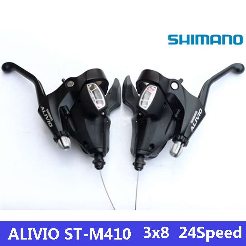 SHIMANO ALIVIO ST-M410 Shift lever 3 * 8 speed 24s MTB bike mountain bike connection DIP bike derailleon free shipping shimano deorext fd m780 m781 front transmission mtb bike mountain bike parts 3x10s 30s speed