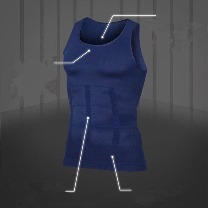 Abnehmen Männlichen Körper-former Weste Männer T-shirt Schweiß Bauch Fett Reduzieren Kompression Schwarz Weiß Blau Shapewear Fitness Kleidung