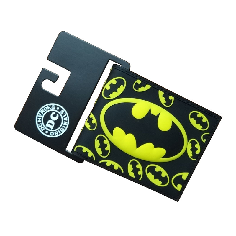 New Arrival Bat-man Purse DC Comics Anime Batman Wallets Super Hero Print Dollar Bags Creative Gift for Men PVC Short Wallet dc wonder woman wallet suicide squad purse super hero fashion cartoon wallets personalized anime purses for teens girl student
