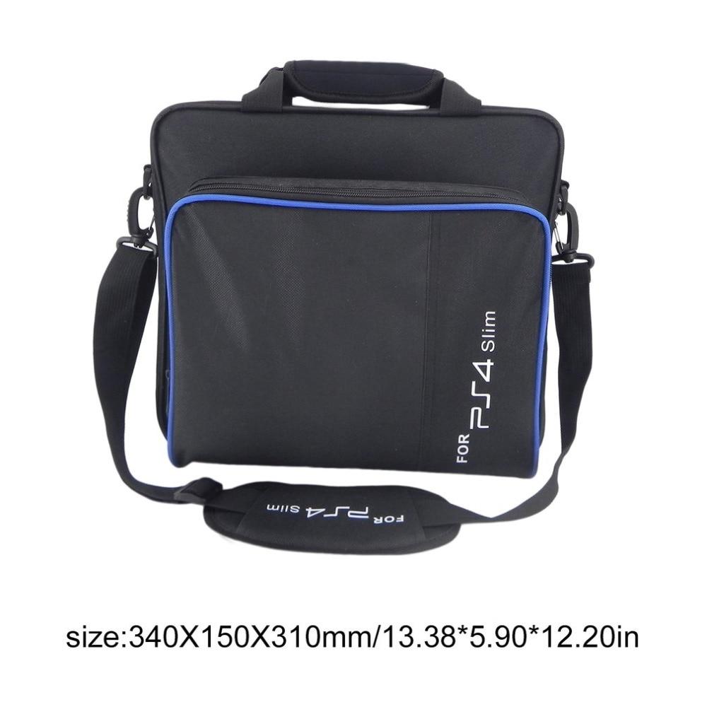 GüNstiger Verkauf 2018 Schwarz Tasche Für Sony Playstation4 Ps4 Tasche Spiel Lagerung Taschen Hohe Kapazität Nylon Tragbare Bolsa De Viagem Dropshipping Videospiele