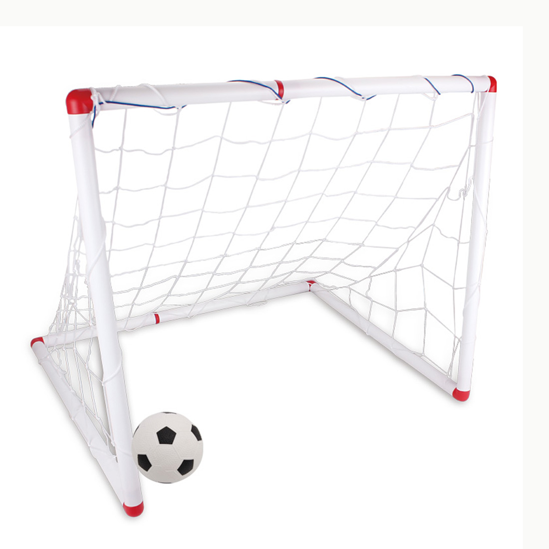 DIY Youth Sports Soccer Goals with Soccer Ball and Pump Practice Scrimmage Game