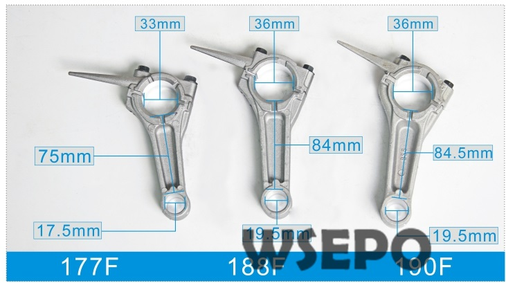 Chongqing Quality! Connecting Rod/Conrod Assy fits for GX420/190F 420CC 16hp 04 Stroke Air Cooled Gasoline Engine