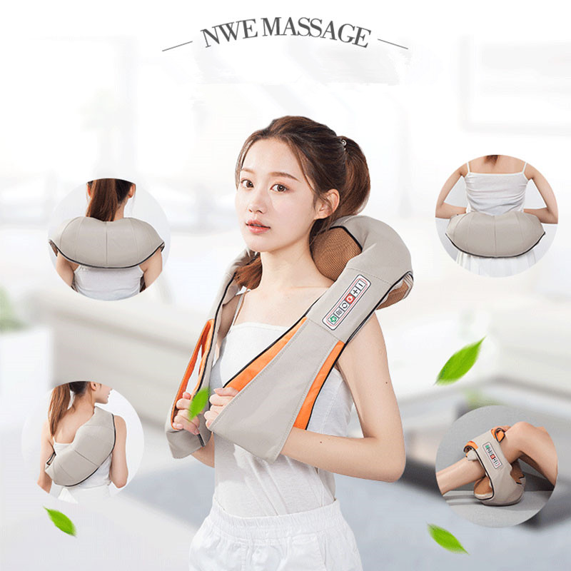 New Home Car Electrical Body Massager Relaxation Massage U Shape Neck Back Shoulder Shiatsu Infrared 3D Kneading Massager