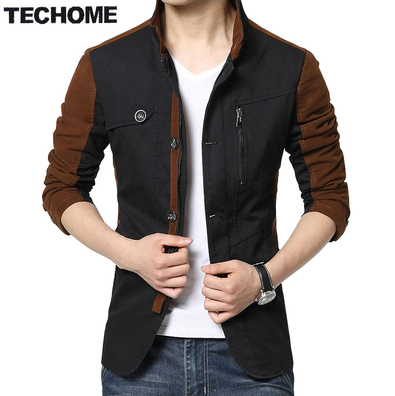 2016 Autumn   Trench   Coat Men Single Breasted   Trench   Coat Men Outerwear Casual Coat Men Jackets Windbreaker Men   Trench   Coat 3XL
