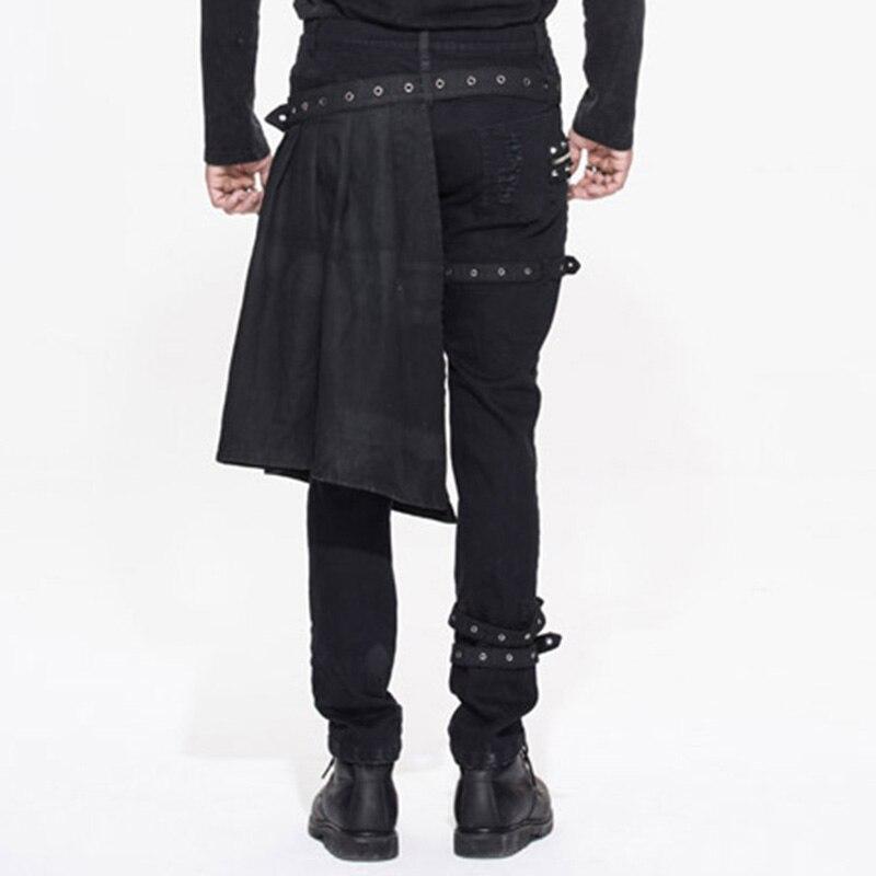 Стимпанк мода мужчины повседневная detachabletrousers готический личность отверстие брюки мужчины среднего талии stage брюки pt032