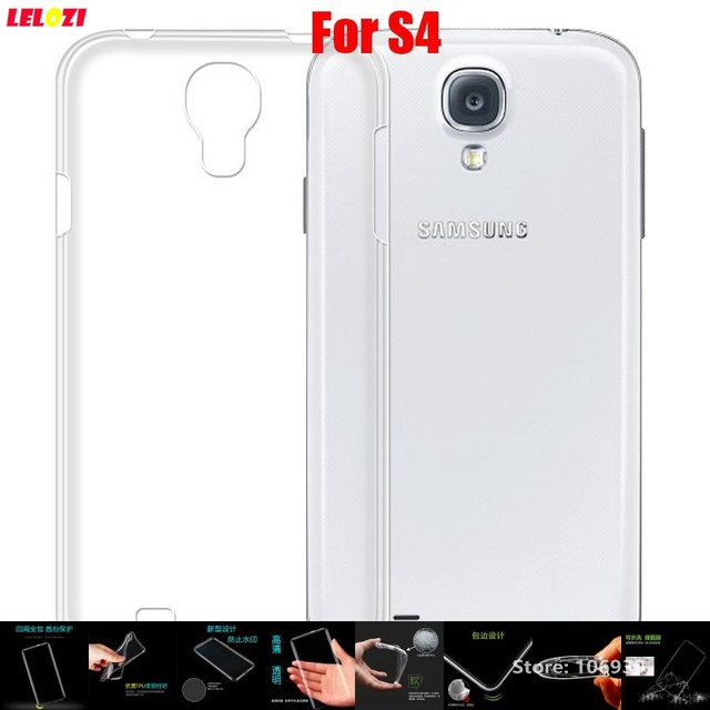 LELOZI Soft Transparent TPU Clear Silicone Silicon Ultra Thin Fundas Etui Case Cover For Samsung Galaxy S4 S IV GT-I9502