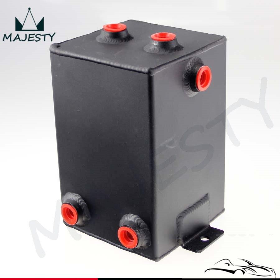 Aluminium 3L Fuel Surge Tank 3 Litre Swirl Pot System Universal Alloy Black