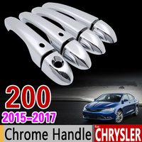 For Chrysler 200 2015 2016 2017 Luxurious Chrome Handle Cover Trim Set For 4Dr 200c Never