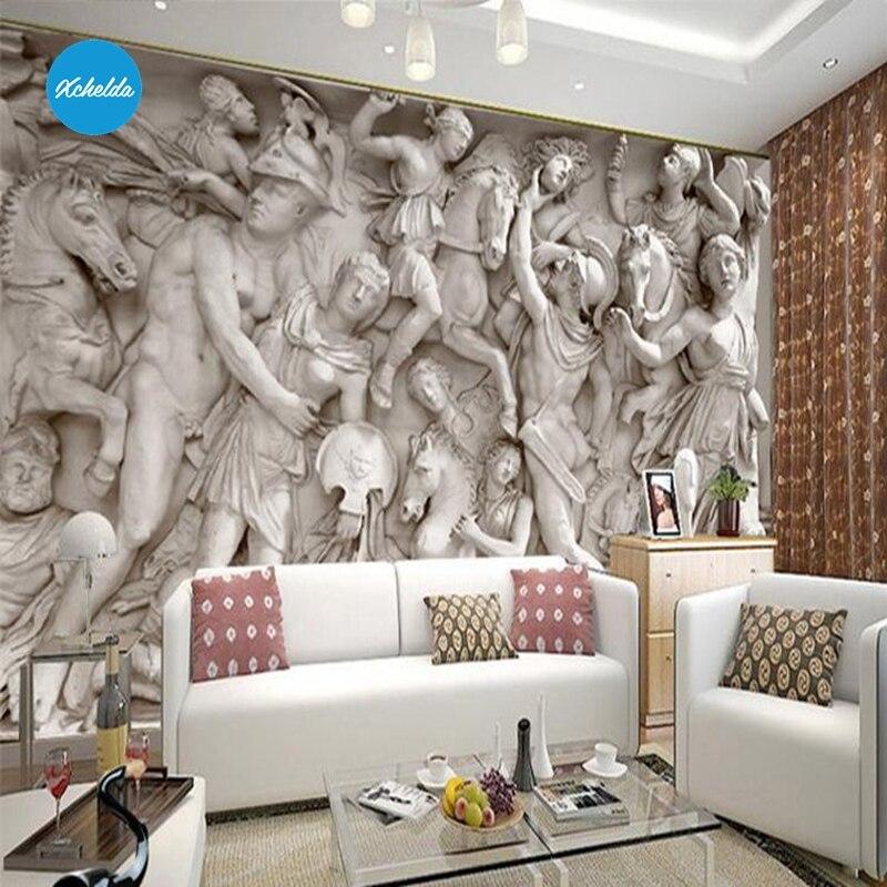 Wall Murals Custom Stone Statue 3d Wallpaper Design Photo Kitchen