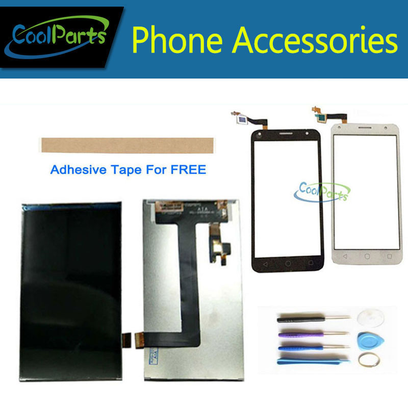 For Alcatel One Touch 5010 5010D OT5010 LCD Display+Touch Screen Digitizer Black White With Tool &TapeFor Alcatel One Touch 5010 5010D OT5010 LCD Display+Touch Screen Digitizer Black White With Tool &Tape