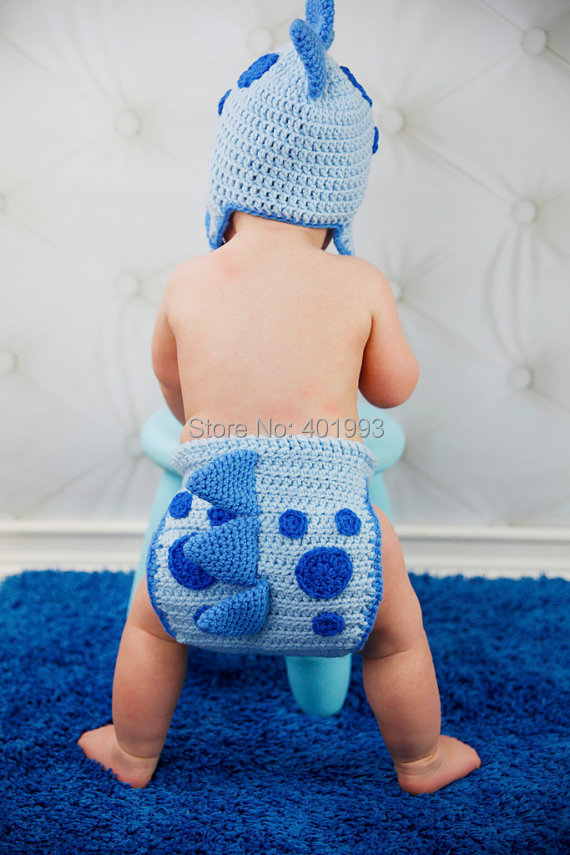 785191d108a5d Crochet chapéu do bebê fotografia adereços photoshoot do dinossauro bebê  recém nascido menino e menina roupas de crochê recém nascidos do bebê da  menina ...