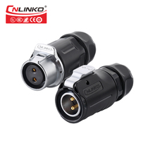 IP67 DC Jack 2 Pin Plug and Connection Plug Female Wiring 20A Power Solar Panel Connector for Solar System