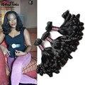 3 paquetes de los aliexpress uk/Nigeria brasileño suelta la onda bouncy rizos funmi romance pelo 10a ishow productos fumi pelo remy cabello humano
