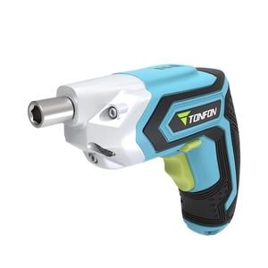Image 3 - Youpin Tonfon Taladro Inalámbrico eléctrico inalámbrico pistola de impacto branquias destornillador de potencia con Bits 1500mAh batería recargable