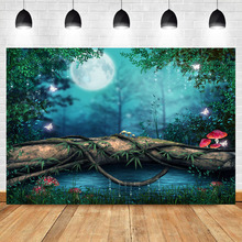 NeoBacke Forest Jungle Backdrops for Photography Night Moon fairy forest wonderland Background Photo Booth Studio Seamless