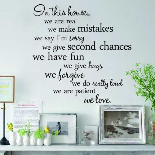 Quotes Wall Sticker Vinyl Art Mural In This House Rule Decal Black Sayings Phrase Decals Home Decor Stickers From Garden On