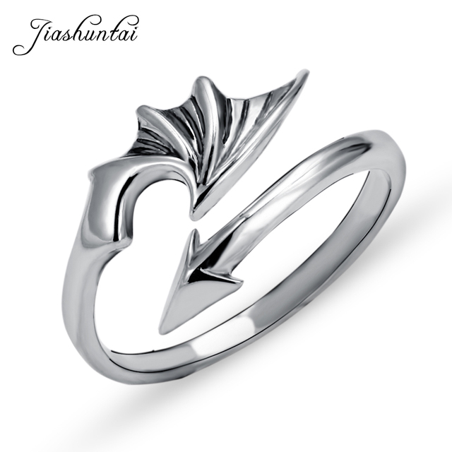 JIASHUNTAI 100% 925 Sterling Silver Rings For Women Wing Arrow Design Vintage Th