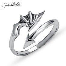 Jiashuntai 100% 925 пробы серебряные кольца для женщин с крыльями