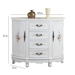 Europejski nowa klasyczna  ganek szafy  biały  amerykański styl  nowoczesne ręcznie malowane salon  półokrągłe w Szafy do salonu od Meble na