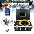 """Envío libre! 40 M Sistema de Inspección de Alcantarillado Tubería de Desagüe de La Cámara de Vídeo A Prueba de agua 7 """"LCD"""