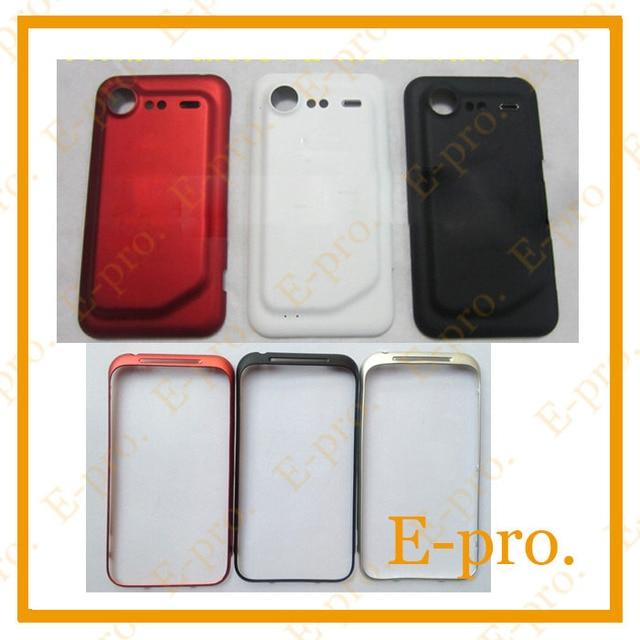 Передняя Металлический Корпус Рамка + Задняя Крышка Батареи Дело Дверь Для HTC Incredible S S710e G11 Жилья + Инструменты Черный Белый Красный