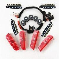 READXT Car Interior Lights Door Warning LED Light+Plug Harnes Clips For Golf 5 6 MK6 7 MK7 Tiguan Passat B6 B7 CC 3AD 947 411