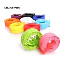 Fashion Mens Women Silicone Rubber Leather Belt Multi Color Plain Smooth Plastic Buckle Waistband Waist Belt Strap 200-361