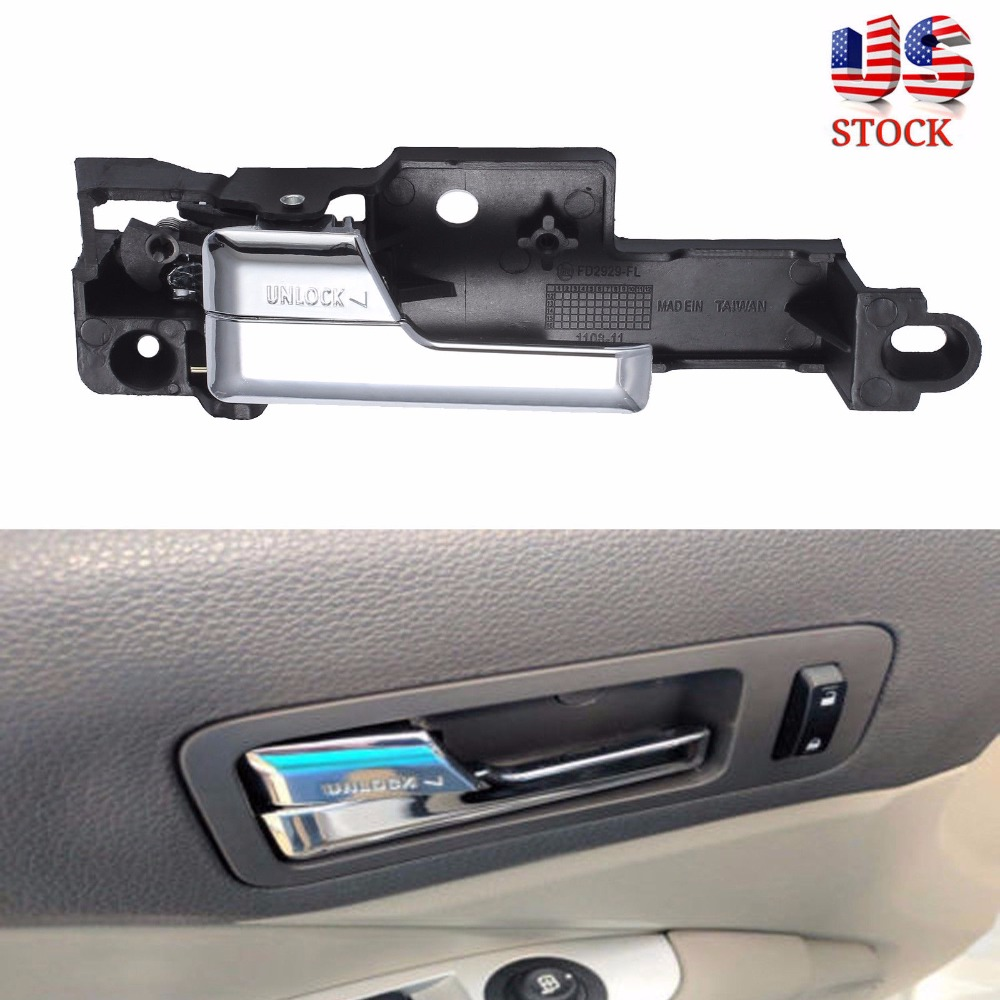 CARBOLE for Ford Fusion 2006-2012 Front Inner Inside Door Handle Chrome Left Driver Side Replaces 6E5Z-5422601-A 6E5Z5422601A