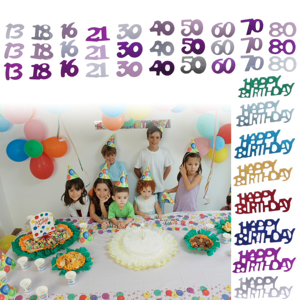 2400 800Pcs Number Men Women Lady Happy Birthday Party Table Scatter Confetti Decoration Age Digitals In Banners