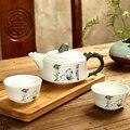 Изысканный чайный набор Ge Kiln  чайный набор кунг-фу для черного чая  дорожный керамический чайный набор  один чайник и две чашки