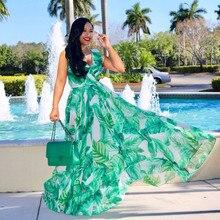 Богемский стиль, S-XL, лето, Новое поступление, сборная Талия, цветочный принт, женское шифоновое длинное платье W0619