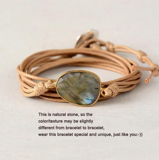 Labrodorite Bracelet  Handmade  Fine Silver  999  Chain Bracelet Stone Bracelet   Organic Jewelry