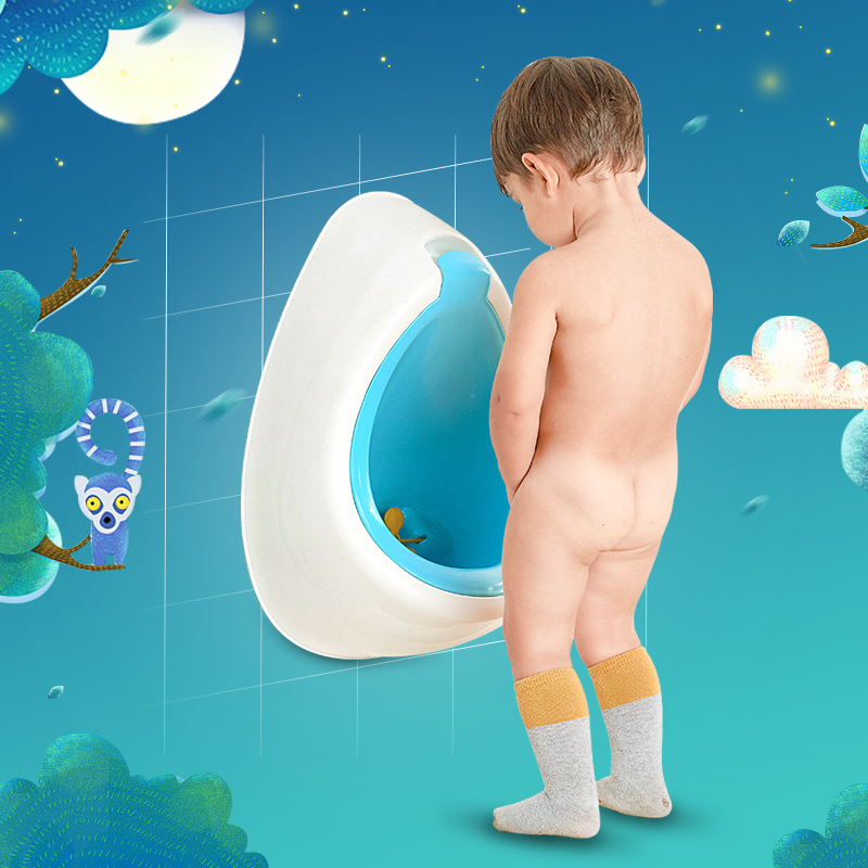 Wholesale New Arrival Children Funny Potty Toilet Trainer Stand Vertical Boys Urinal For Free Potty Brush