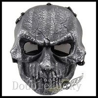 Top Quality Material CS Game Airsoft Mask Scary Half Face Zombie Mask Plastic Paintball Undead Mask Cosplay CS Game Skull Mask