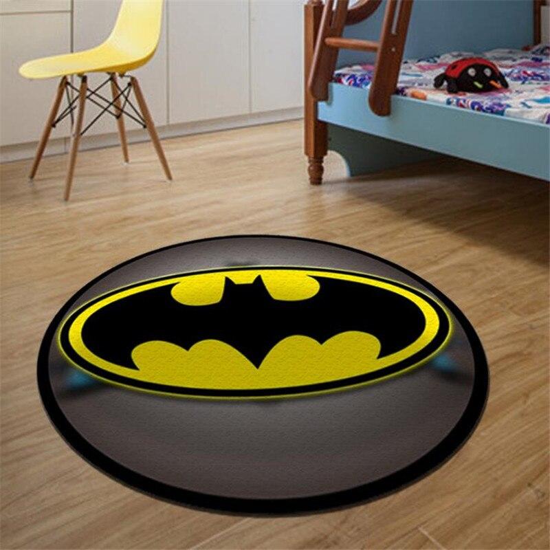 Круглый ковер с принтом Бэтмена Супермена мягкие Нескользящие