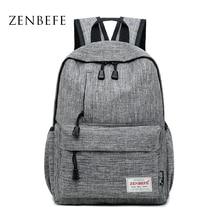 ZENBEFE Linen Small Backpack Unisex School Bags For Teenage School Backpack For Students Backpacks Rucksack Bookbags Travel Bag