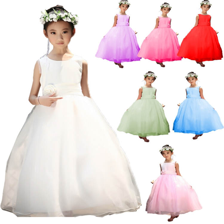 2017 New Summer Wedding Party Girls Dress Princess Baby Clothes