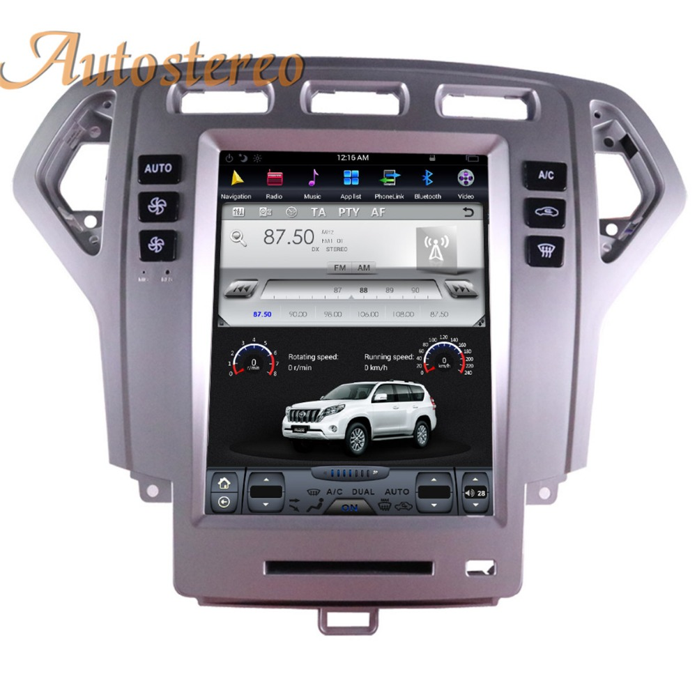 все цены на Big Screen Android Tesla style Car DVD Player GPS Navigation For Ford Fusion Mondeo 2007 2008 2009 10 stereo headunit multimedia онлайн