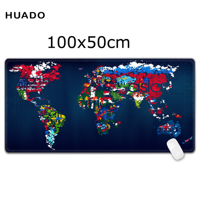 Large mouse pad 1000x500mm speed world map keyboard mat desk mat for large mouse pad 1000x500mm speed world map keyboard mat desk mat for game player for overwatch gumiabroncs Gallery