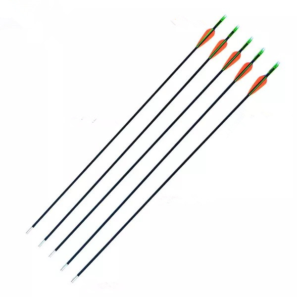 6/12/24Pcs High Quality Fiberglass Arrows OD 6mm 30'' Spine 900 For Recurve Bow Archery Shooting Outdoors