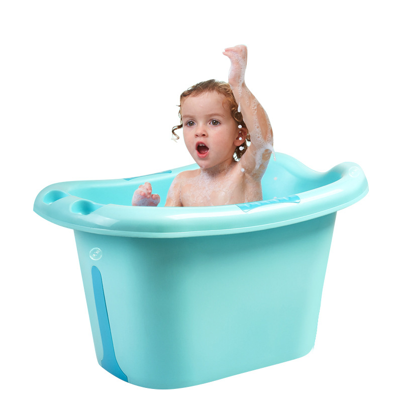 2019 Fashion Extra Large Folding Baby Shower Bathtub Safety Security Foldable New Baby Bath Barrel Tub Seat Bathroom Accessories