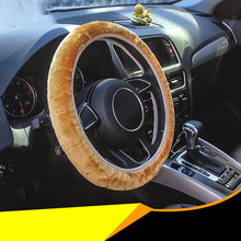 Soft Plush Car DIY Steering Wheel Cover Braid On The Steering-wheel Winter Warm Covers Styling auto interior accessories braid on the steering wheel diy steering wheel covers cover on the steering wheel soft fiber leather braid on the steering whee