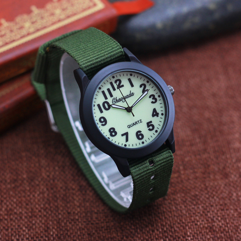 2019 Chaoyada New Children Boys Girls 12 Hours Clear Digital Quartz Wristwatches Luminous Face Hands Canvas Students Watches